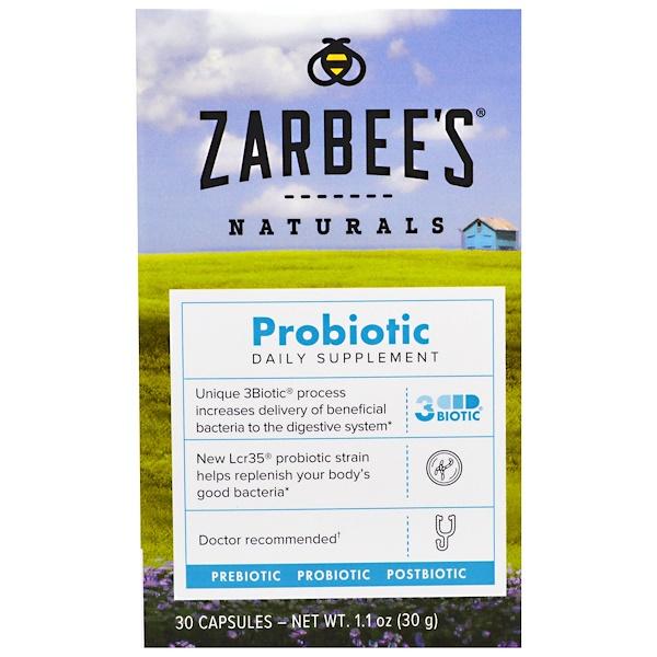Zarbee's, Naturals, Probiotic, 30 Capsules (Discontinued Item)