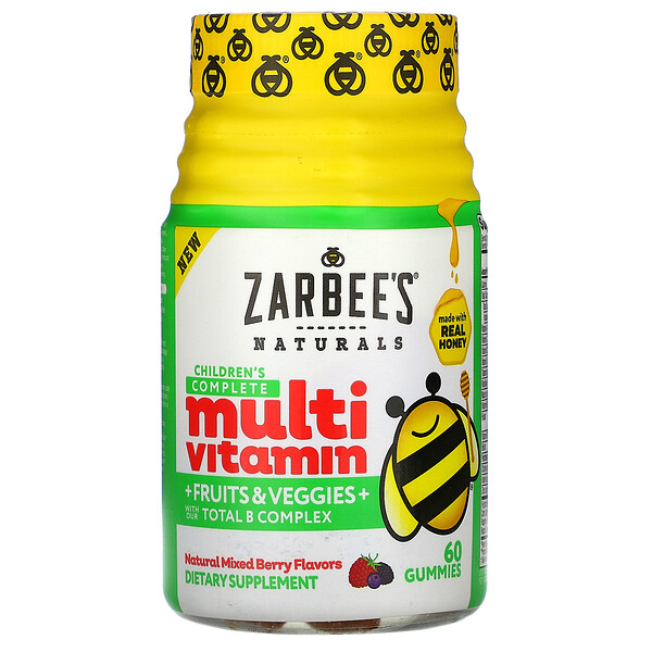 Zarbee's, Children's Complete Multivitamin + Fruits & Veggies, Natural Mixed Berry Flavors, 60 Gummies (Discontinued Item)
