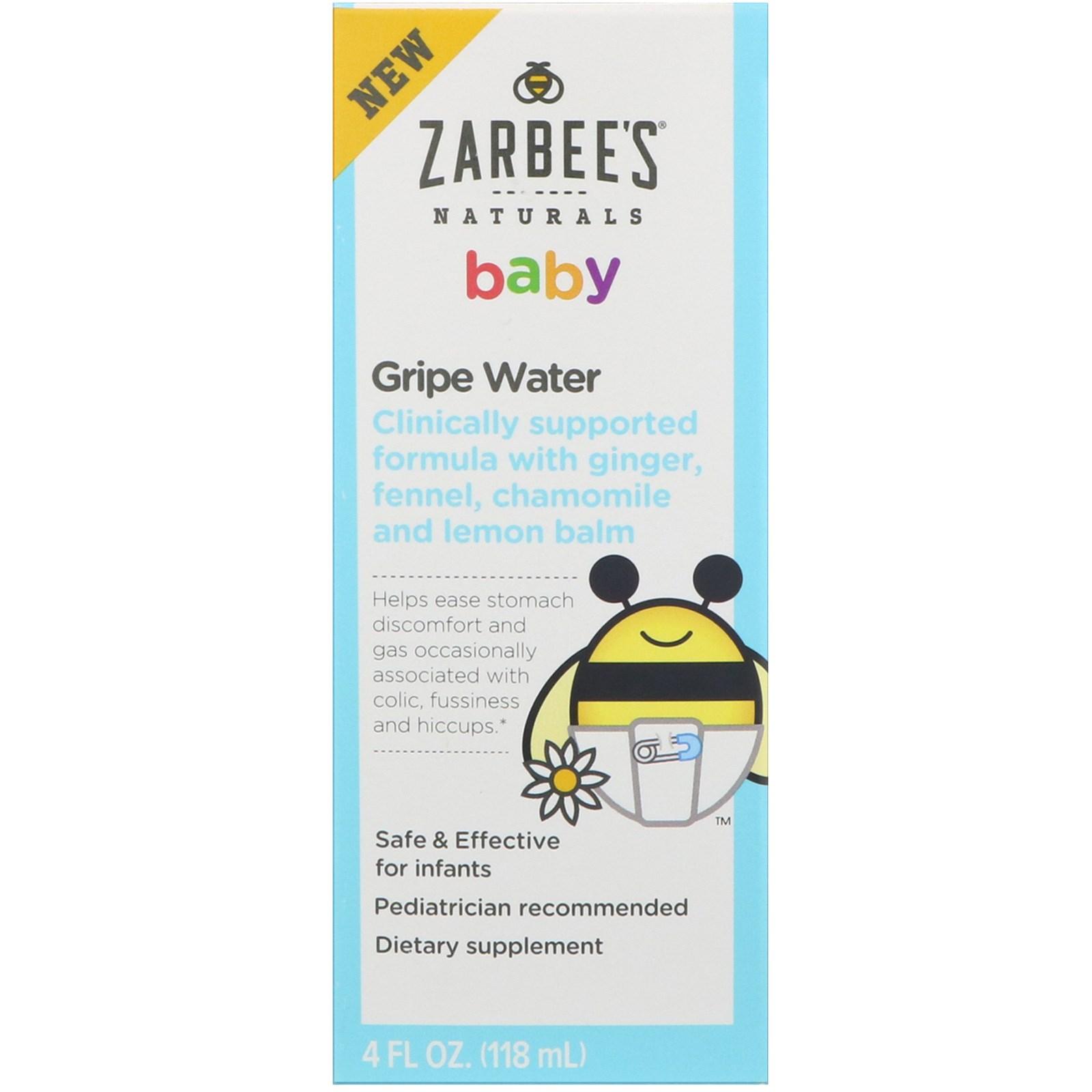 Zarbee S Baby Gripe Water 4 Fl Oz 118 Ml Iherb Com