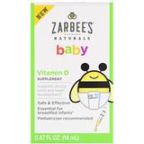 Отзывы о Zarbee's, Нэчуралс, витамин D для малышей, 0,47 жидк. унц. (14 мл)
