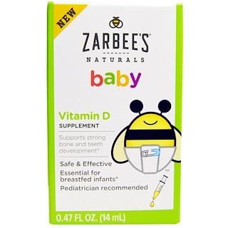 Zarbee's, Naturals, Baby, Vitamin D, 0.47 fl oz (14 ml)
