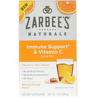Zarbee's, Immune Support & Vitamin C Drink Mix, Natural Orange Flavor, 10 Packets, 3.5 oz (99 g)