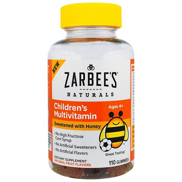 Zarbee's, Children's Multivitamin, Sweetened with Honey, 110 Gummies (Discontinued Item)