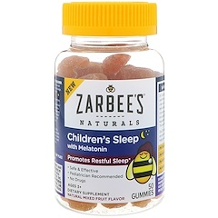 Zarbee's, Children's Sleep with Melatonin, Natural Mixed Fruit Flavor, 50 Gummies
