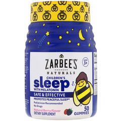 Zarbee's, Children's Sleep with Melatonin, Natural Berry Flavor, 50 Gummies