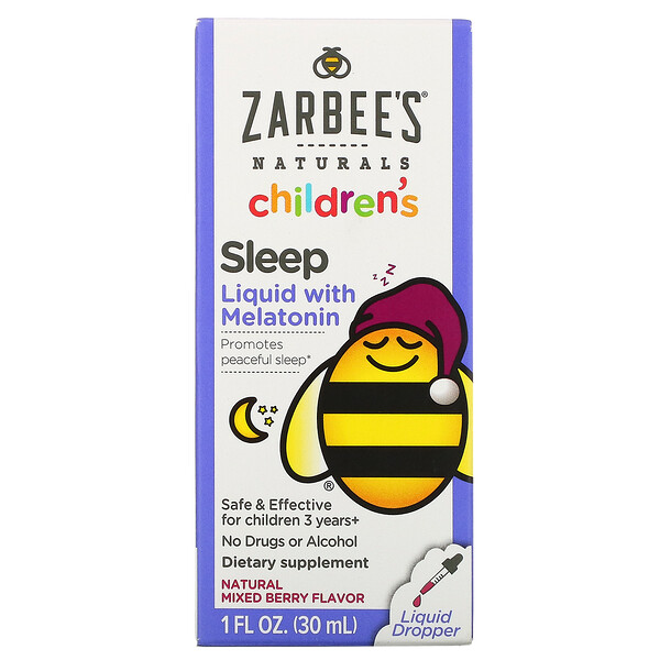 Zarbee's, Childrens Sleep Liquid with Melatonin, For Children 3 Years +, Natural Berry Flavor, 1 fl oz (30 ml)