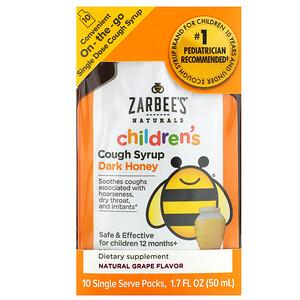 Зарбис, Children's Cough Syrup, Dark Honey, On-the-Go, For Children 12 Months+, Natural Grape Flavor, 10 Single Serve Packs, 1.7 fl oz (50 ml) отзывы