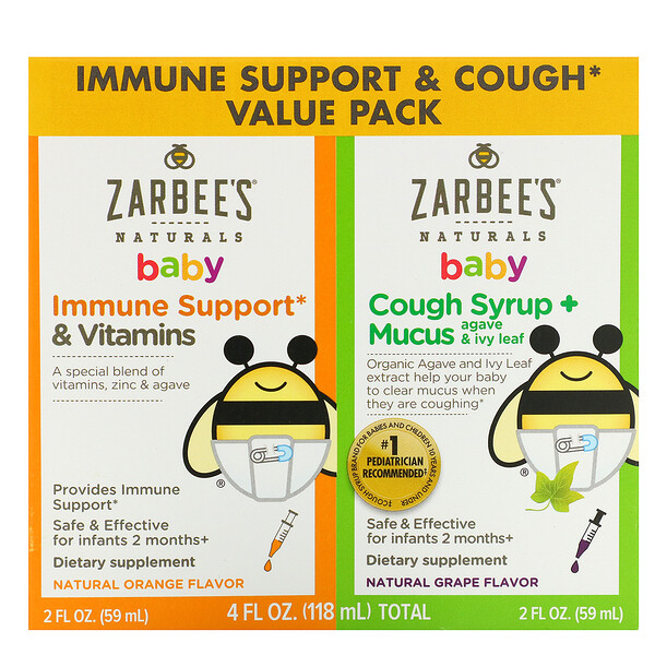Baby, Immune Support & Cough Syrup Value Pack, 2 fl oz (59 ml) Each