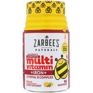 Zarbee's, Children's Complete Multivitamin + Iron, Natural Fruit Flavors, 90 Gummies