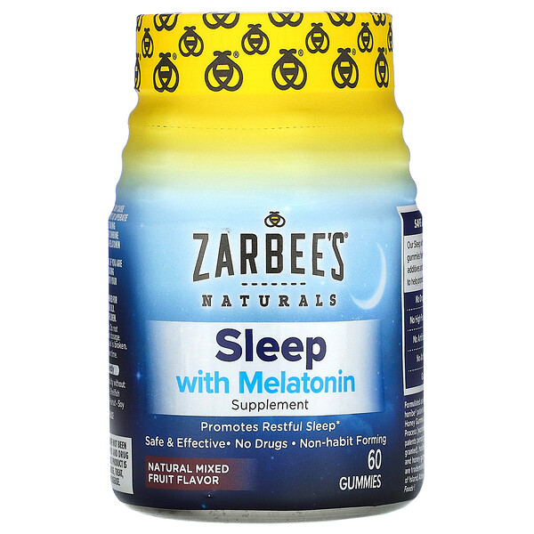 Sleep con melatonina, mezcla de frutas naturales, 60 gomitas