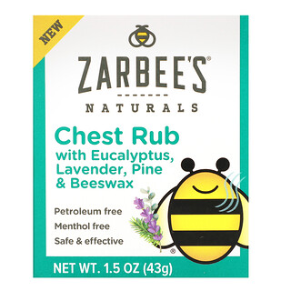 Zarbee's, Chest Rub with Eucalyptus, Lavender, Pine & Beeswax, 1.5 oz (43 g)