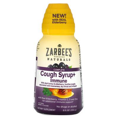 Купить Zarbee's Комплексная добавка, сироп от кашля и средство для укрепления иммунитета, натуральный ягодный вкус, 236мл