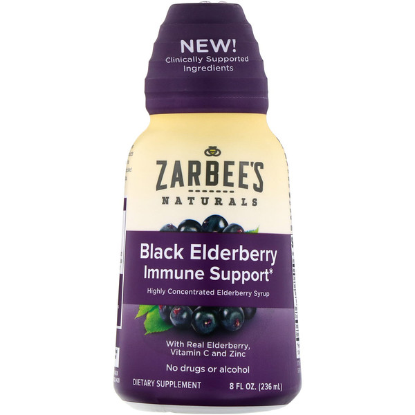 Zarbee's, Black Elderberry Immune Support, 8 fl oz (236 ml)
