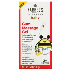 Zarbee's, 嬰兒,軟糖按摩凝膠,2 個月以上,0.53 盎司(15 克)