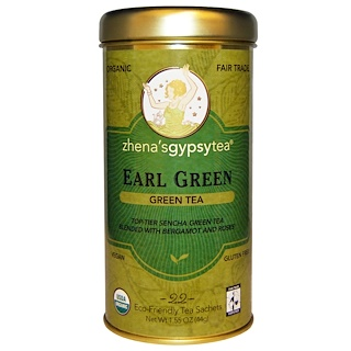 Zhena's Gypsy Tea, アールグリーンティー(Earl Green Tea), 22小袋, 1.55オンス(44 g)