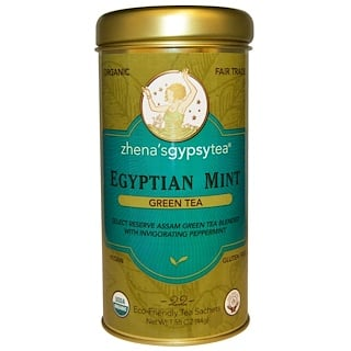 Zhena's Gypsy Tea, オーガニック, エジプトのミント, 緑茶, 22小袋, 1.55オンス(44 g)