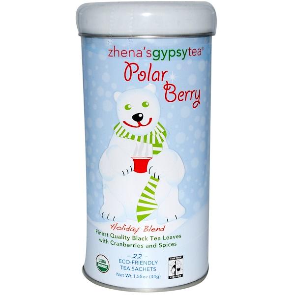 Zhena's Gypsy Tea, Polar Berry, Holiday Blend, 22 Tea Sachets, 1.55 oz (44 g) (Discontinued Item)