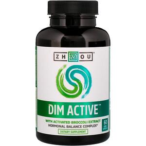 Zhou Nutrition, DIM Active, Hormonal Balance Complex, 60 Veggie Capsules отзывы покупателей