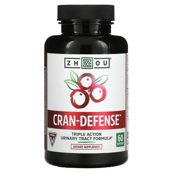 Zhou Nutrition, D-Mannose with Cranberry XBAC, 60 Veggie Capsules
