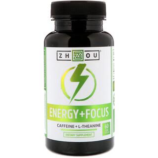 Zhou Nutrition, エナジー + フォーカス, ベジタリアンカプセル60錠