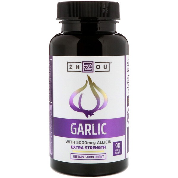 Zhou Nutrition, Garlic Extra Strength, 90 Coated Tables