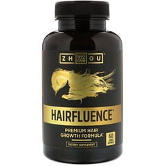 Zhou Nutrition, Hairfluence,高級頭髮生長配方,60粒素食膠囊