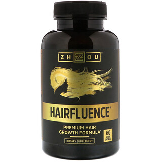 Zhou Nutrition, Hairfluence, Premium Hair Growth Formula, 60 Veggie Capsules