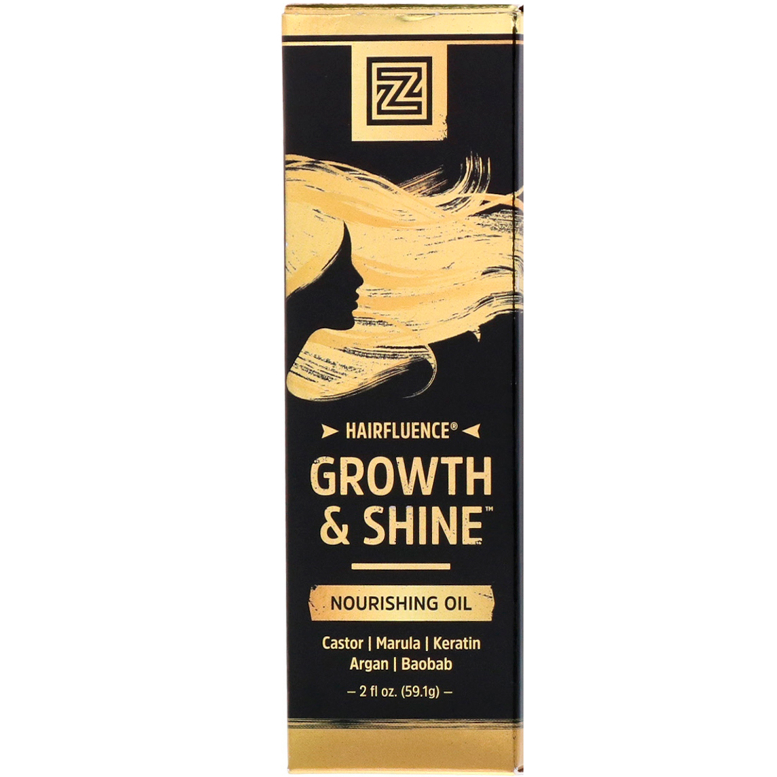 Zhou Nutrition, Hairfluence Growth & Shine Nourishing Oil, 2 fl oz