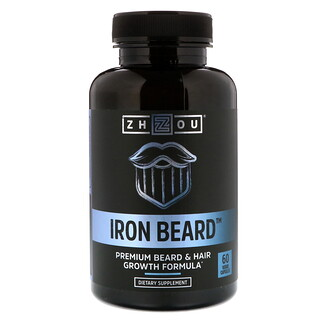 Zhou Nutrition, Iron Beard, 60 Veggie Capsules