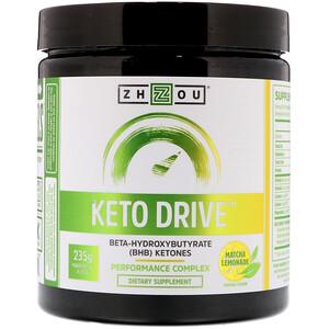 Zhou Nutrition, Keto Drive, Matcha Lemonade, 8.29 oz (235 g) отзывы