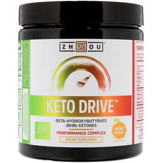 Zhou Nutrition, ケトドライブ、オレンジマンゴー、8.29 oz (235 g)