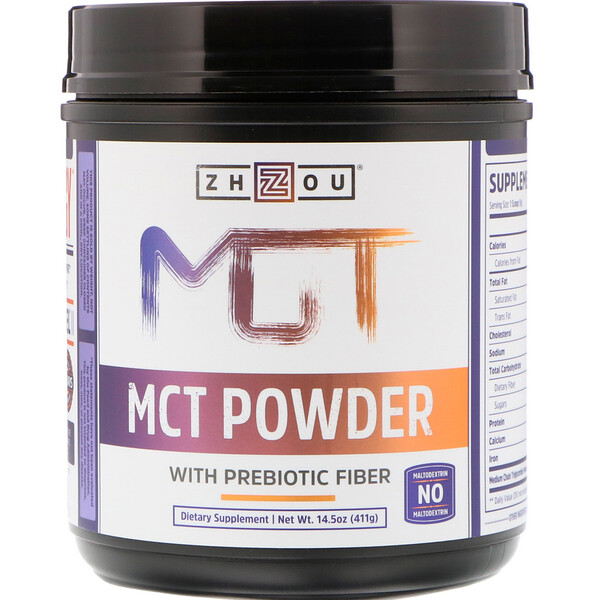 Zhou Nutrition, MCT Powder with Prebiotic Fiber, 14.5 oz (411 g)