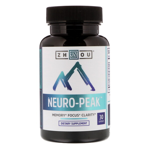 Zhou Nutrition, Neuro-Peak, 30 Capsules
