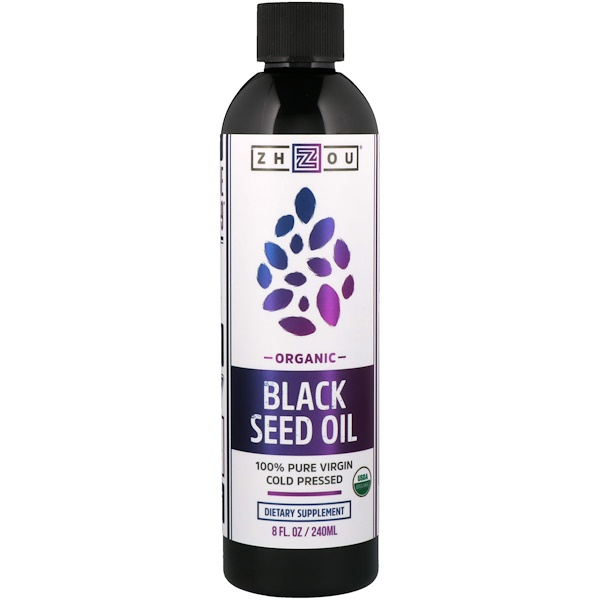 Organic, 100% Pure Virgin Black Seed Oil, Cold Pressed, 8 fl oz (240 ml)
