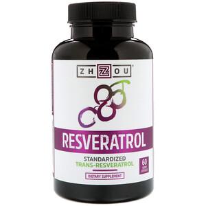 Zhou Nutrition, Resveratrol, 60 Veggie  Capsules отзывы