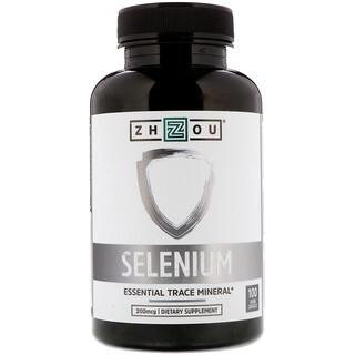 Zhou Nutrition, Selenium, Essential Trace Mineral, 200 mcg, 100 Veggie Capsules