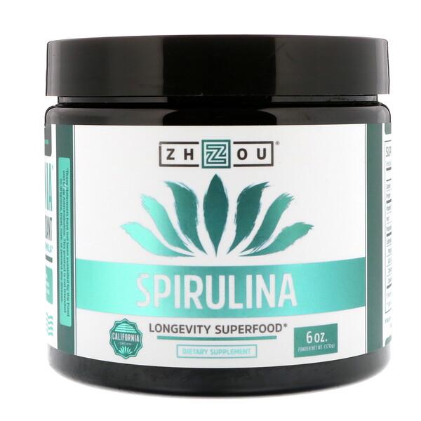 Zhou Nutrition, سبيرولينا، 6 أوقية (170 غرام)