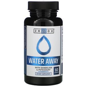 Zhou Nutrition, Water Away with Dandelion & Potassium, 60 Capsules отзывы покупателей