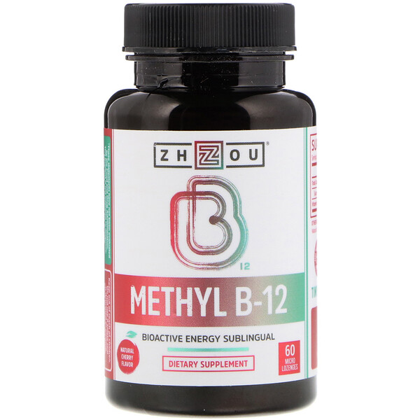 Zhou Nutrition, Methyl B-12, Bioactive Energy Sublingual, 60 Micro Lozenges