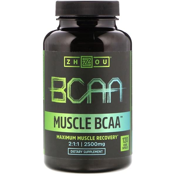 Zhou Nutrition, MuscleBCAA, 2500mg, 120cápsulas vegetarianas (Discontinued Item)