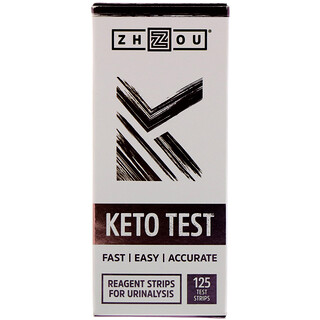 Zhou Nutrition, Keto Test, 125 Test Strips