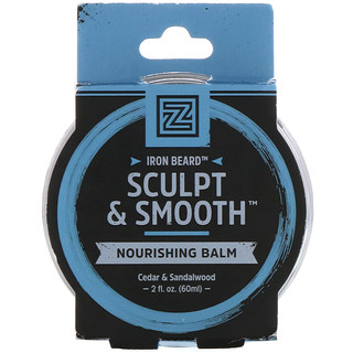 Zhou Nutrition, Iron Beard, Sculpt & Smooth Nourishing Balm, Ceder & Sandalwood, 2 fl oz (60 ml)
