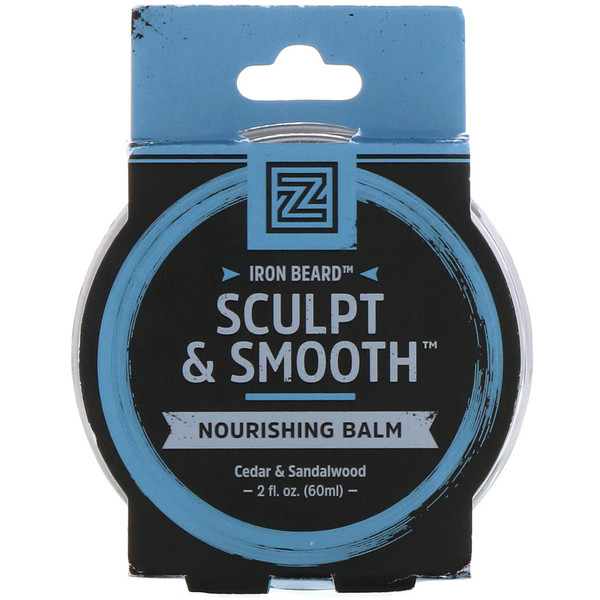 Zhou Nutrition, Iron Beard, bálsamo nutritivo Sculpt & Smooth, cedro y sándalo, 2 fl oz (60 ml)