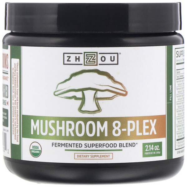 Zhou Nutrition, Mushroom 8-Plex Powder, 2.14 oz (60 g)