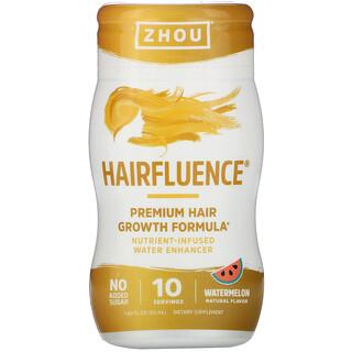Zhou Nutrition, Hairfluence, Nutrient-Infused Water Enhancer, Watermelon, 1.69 fl oz (50 ml)