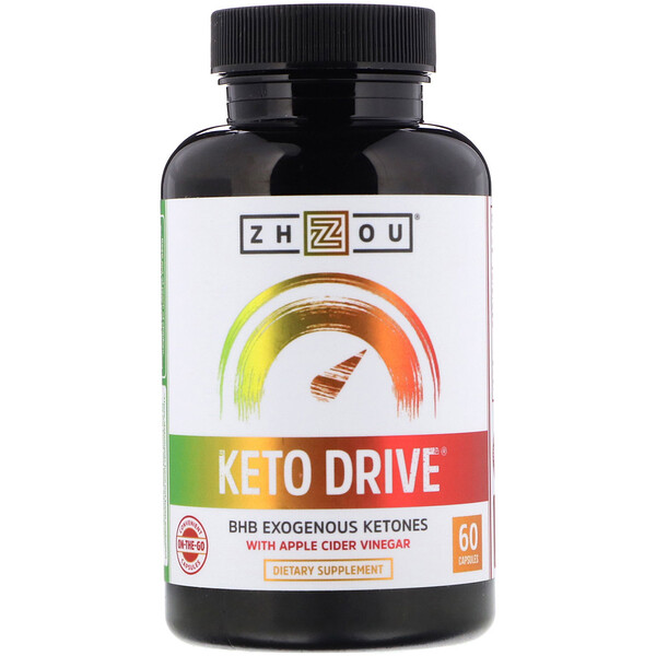 Zhou Nutrition, Keto Drive, BHB Exogenous Ketones, 60 Capsules