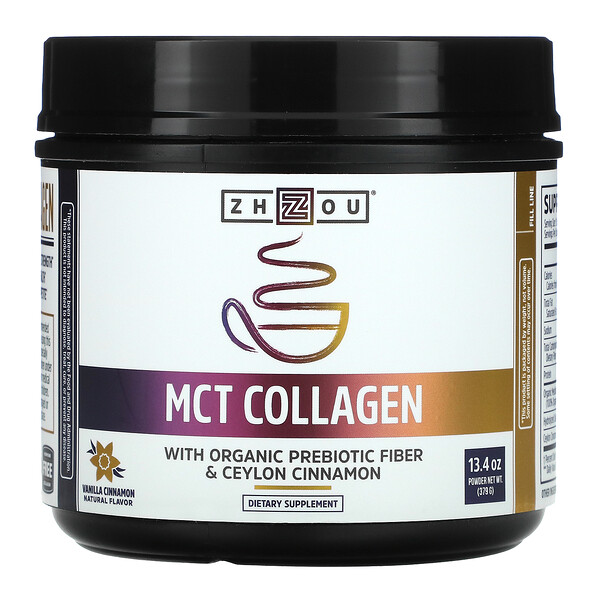 MCT Collagen, Vanilla Cinnamon, 13.4 oz (379 g)