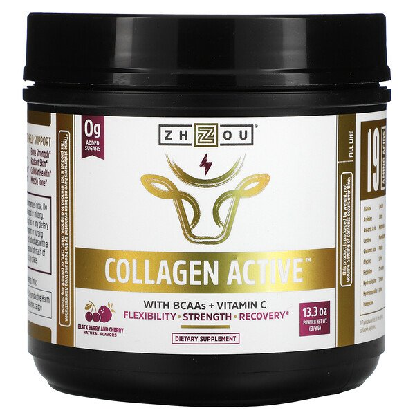 Collagen Active, Black Berry and Cherry, 13.3 oz (378 g)