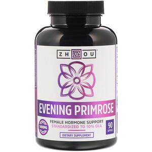 Zhou Nutrition, Evening Primrose, Female Hormone Support, 1,400 mg, 90 Softgels отзывы