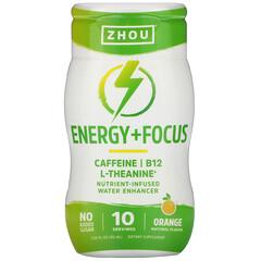 Zhou Nutrition, 能量 + 聚焦,營養強化水,酸橙味,1.69 盎司(50 毫升)